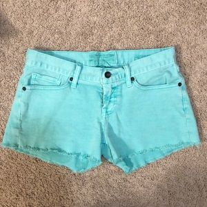 Turquoise lucky brand jeans shorts